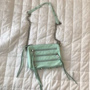 Rebecca Minkoff Mint Five Zip Crossbody Bag